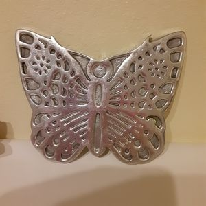 Butterfly Pewter Hot Plate Stand